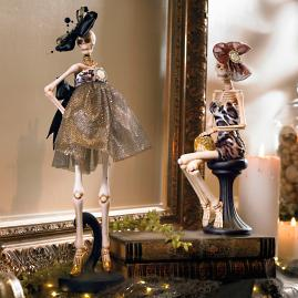 Fashionista Skeletons, Set of Two |