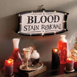 """Blood Stain Removal"" Marquee Sign"