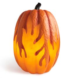 "Flame Lighted 15"" Pumpkin"