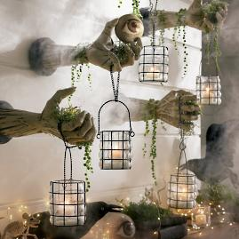Creepy Hands with Lanterns, Set of Two