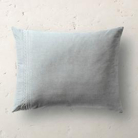 Embroidered Chambray Pillow Sham