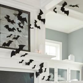 Assorted Felt Bats, Set of 12