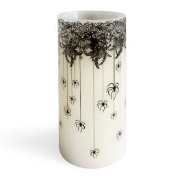 Day of the Dead Spider Candle