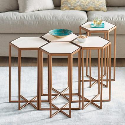 bunching hexagon table | grandin road