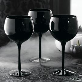 Midnight Balloon Glasses, Set of Four