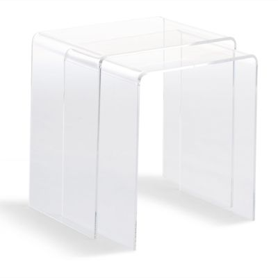 Chamonix Acrylic Nesting Table Set Of Two Grandin Road