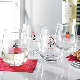 Tidings Stemless Glasses, Set of Four