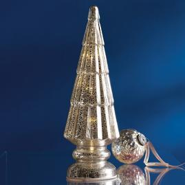 Mercury Glass LED Silver Tree |