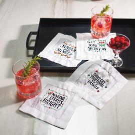 Cheers to Christmas Cocktail Napkins, Set of Four