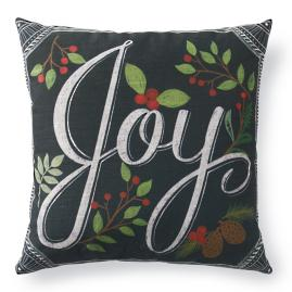 Christmas Joy Chalkboard Pillow