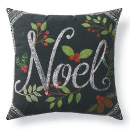 Christmas Noel Chalkboard Pillow