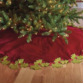 Holly Border Tree Skirt |