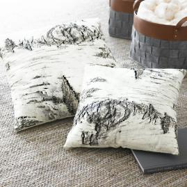Birch Print Throw Pillow
