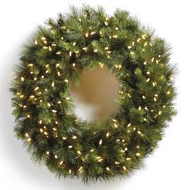 Designer Lit Wreath