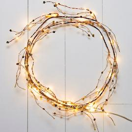 Copper Beaded Lit Garland |