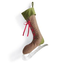 Large Ice Skate Stocking
