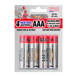 AAA Batteries, 4 Pack