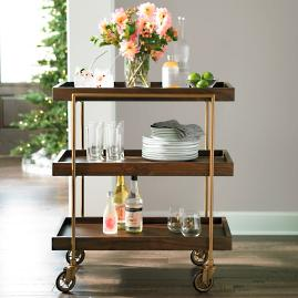 Oak Park Bar Cart