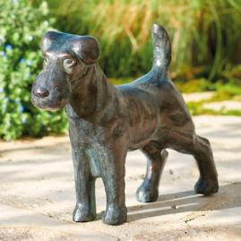 Terrier Garden Sculpture