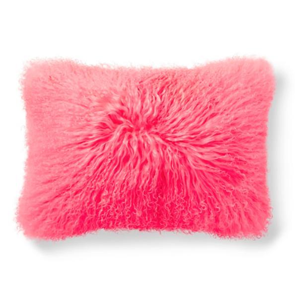 Mongolian Sheep Fur Lumbar Pillow