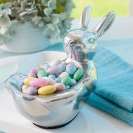 Silver Bunny Dish