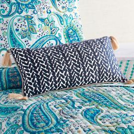 Stella Crewel Stitch Lumbar Pillow