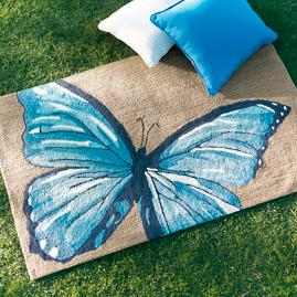 Mazarine Butterfly Outdoor Mat