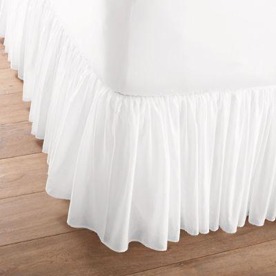 Cotton Voile Bed Skirt Grandin Road