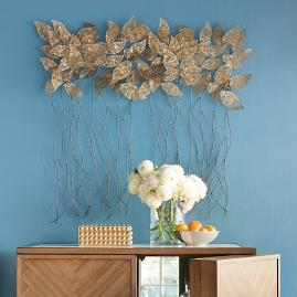 Gold Leaves Metal Wall Decor