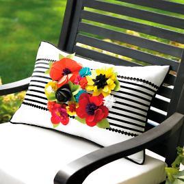 Blooming Outdoor Pillow