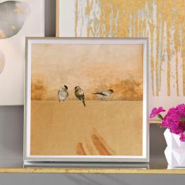 Gold Birds Wall Art I
