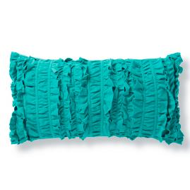 Adventure Ruched Teal Pillow