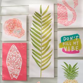 Palm Leaf Outdoor Canvas Art