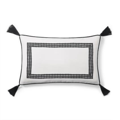 emery monogrammed outdoor lumbar pillow
