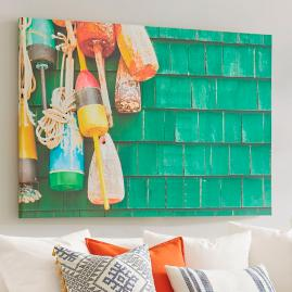 Bright Buoys Wall Art