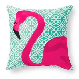 Pretty in Pink Flamingo Outdoor Pillow |