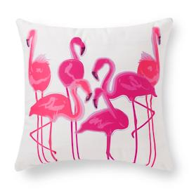 Pretty in Pink Flamingo Party Outdoor Pillow