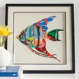 Fish Collage Wall Art