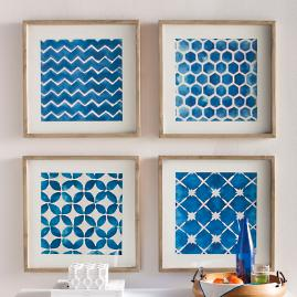 Block Prints Wall Art, Set of Four |