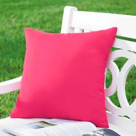 Hot Pink Outdoor Throw Pillow