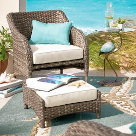 Thompson Outdoor Chair with Ottoman
