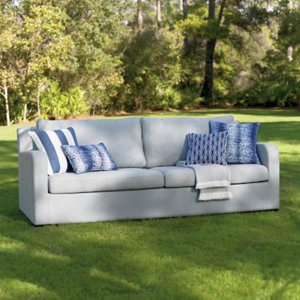 glen arbor upholstered outdoor sofa - Grandin Road Catalog