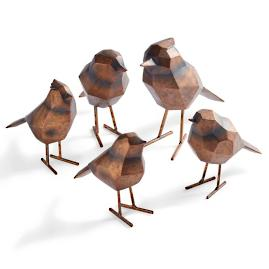 Geo Birds, Set of Five