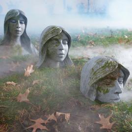 Sinking Garden Heads, Set of Three
