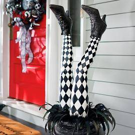 Harlequin Witch Leg Stakes, Set of Two