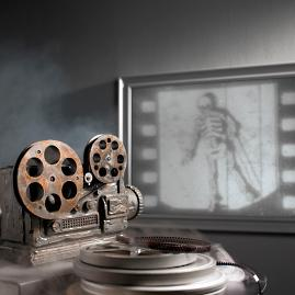 Animated Haunted Movie Projector