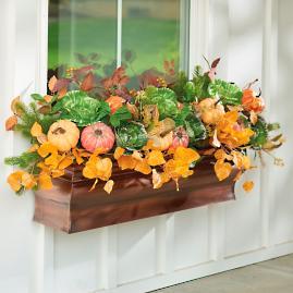 Pumpkins/Cabbage Fall Window Box Filler