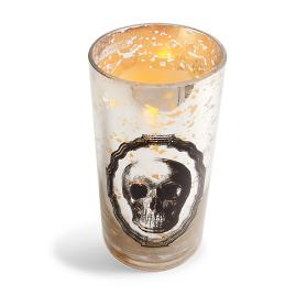 Mercury Glass Skull Hurricane