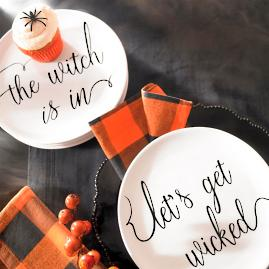 Witchy Word Plates, Set of Four |