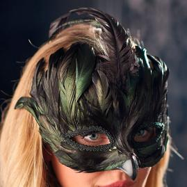Glam Feathered Mask